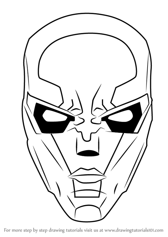 567x800 Learn How To Draw New 52 Red Hood Mask (Dc Comics) Step By Step