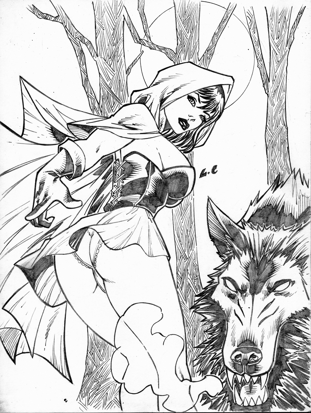 1000x1328 Little Red Riding Hood By Lcfreitas On Sketches