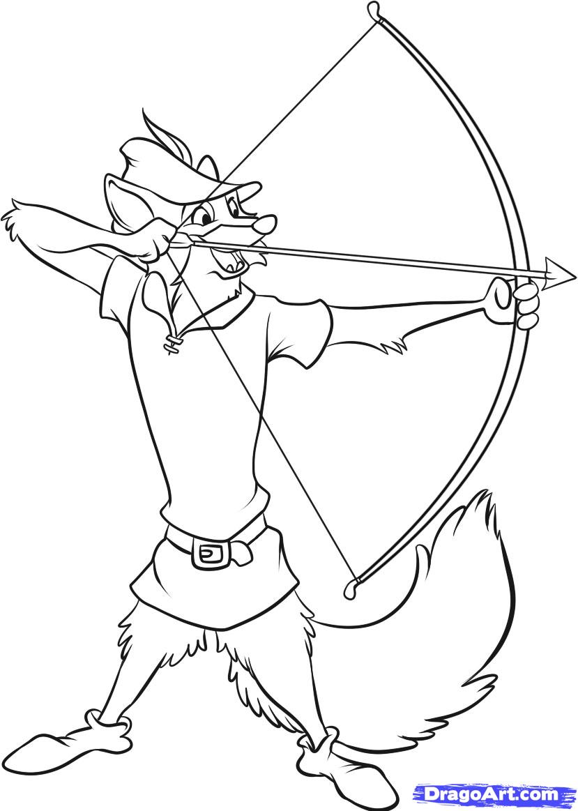 829x1163 How To Draw Disneys Robin Hood In 7 Easy Steps