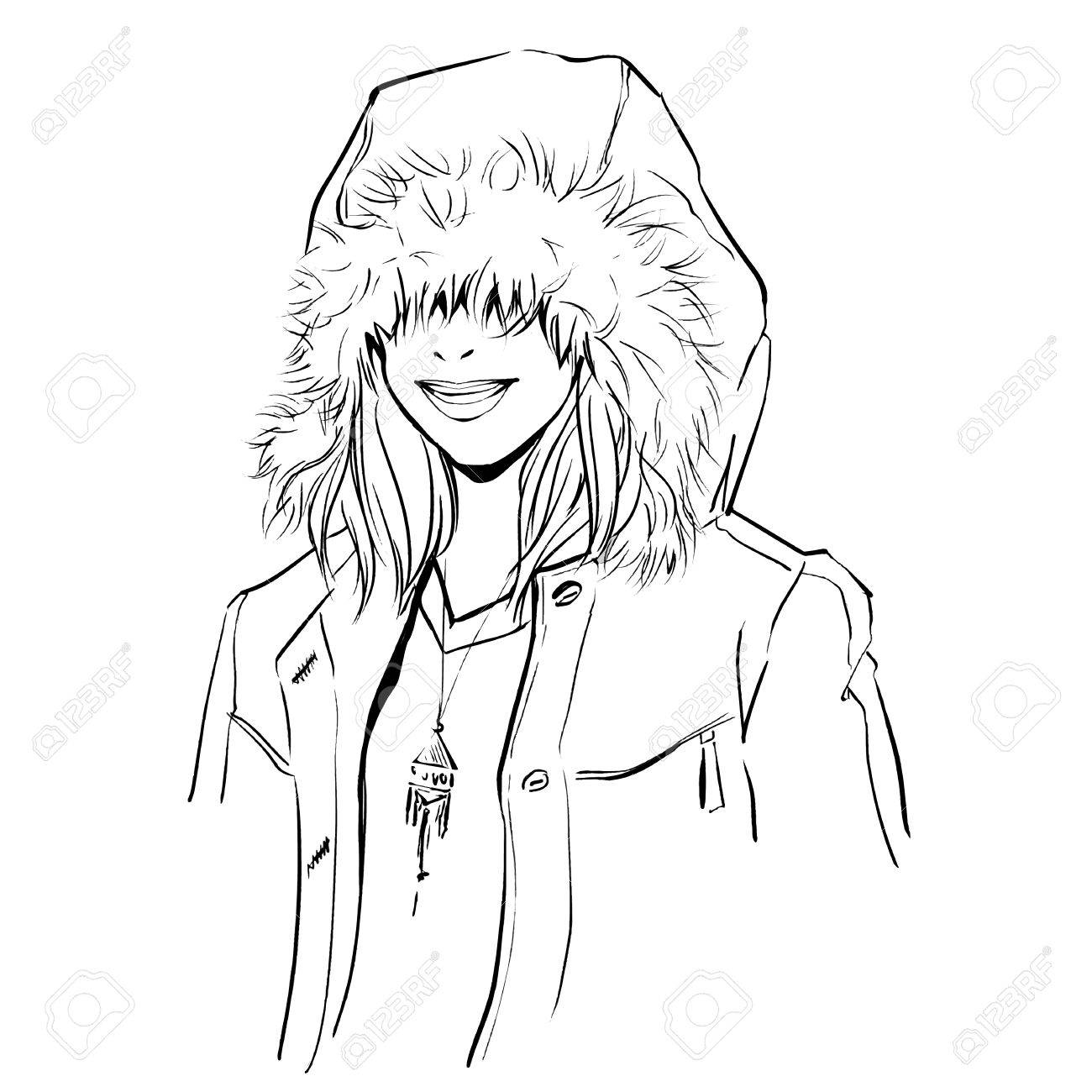 1300x1300 Fashionable Stylish Woman In Winter Clothes. She Is Wearing Warm