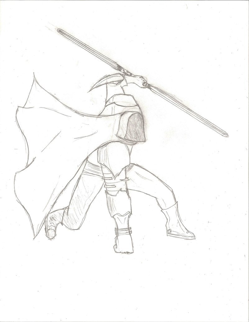 800x1037 Hooded Jedi Master Unfinished By Brendanerdyay