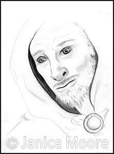 222x300 And Hooded Man Ancient Fantasy Story Illustration