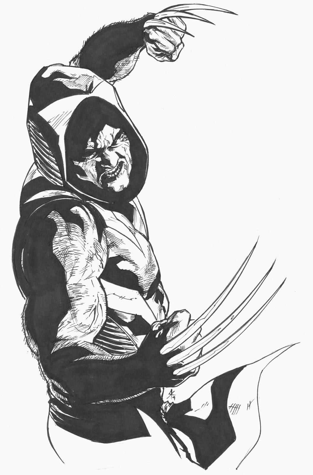 1055x1600 Wolverine, The Hooded Man Steve Kurth's Blog Of Comic Bookery