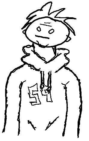 297x473 How To Draw An Awesome Cartoon Hoodie 5 Steps