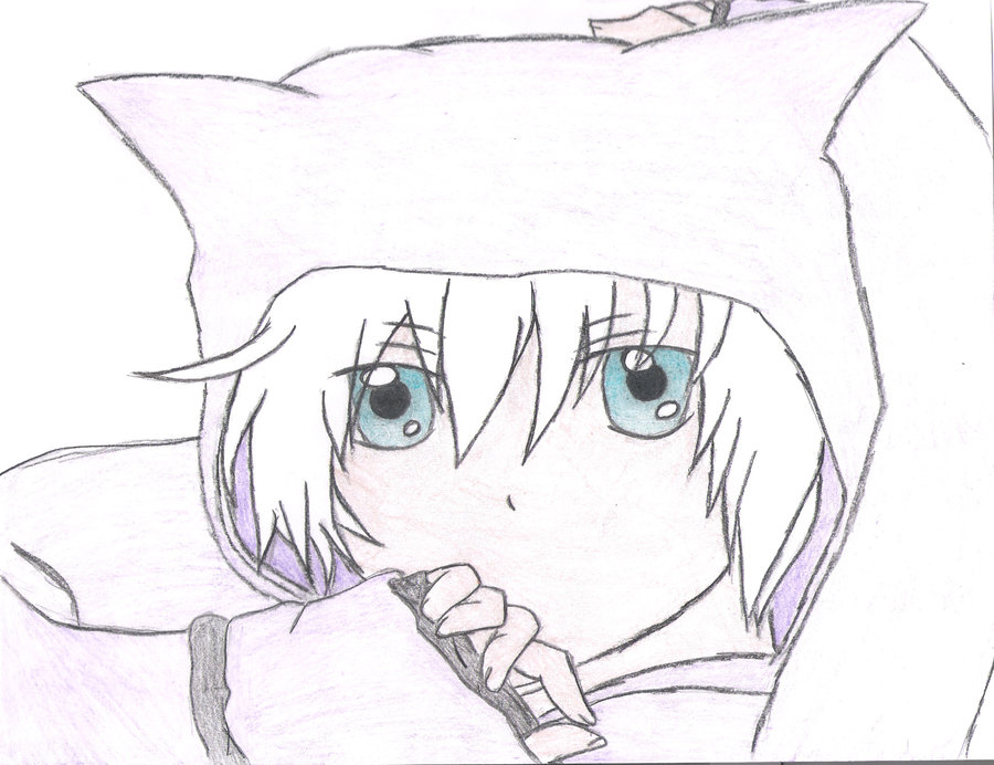 900x692 Anime Boy With Neko Hoodie By Sleeplessdaydreamer