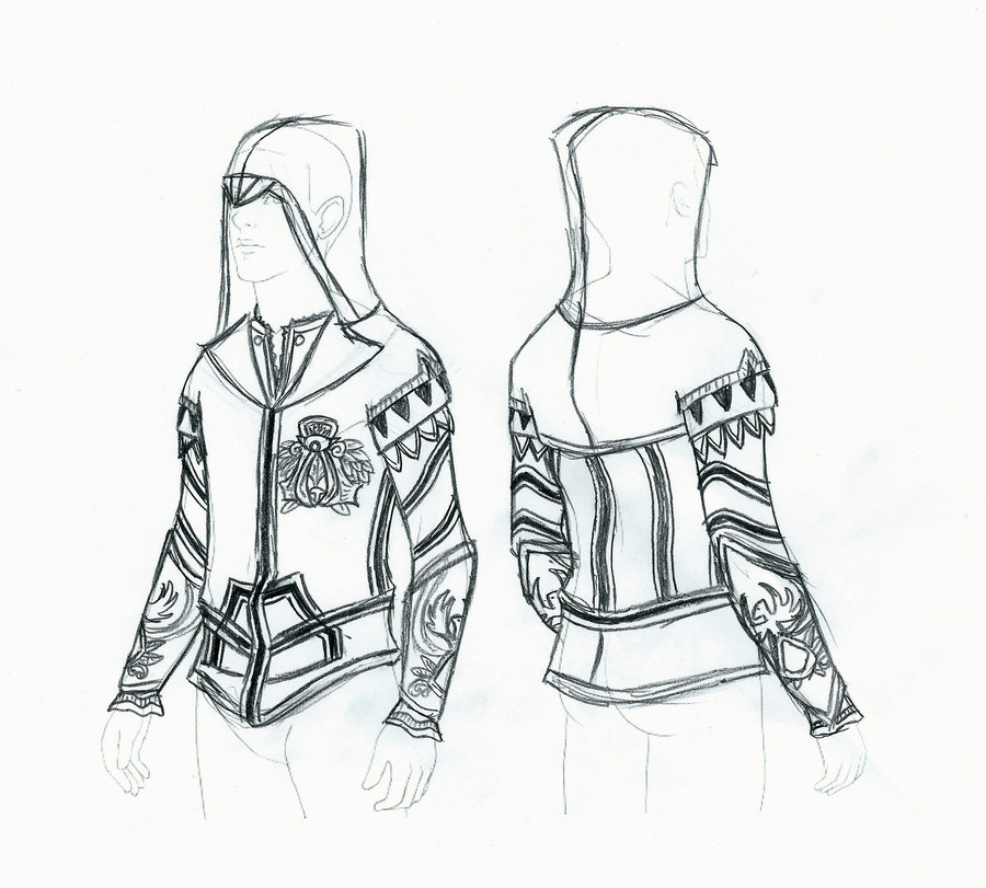 900x811 Assassin's Creed 2 Ezio Hoodie By Ellehcore