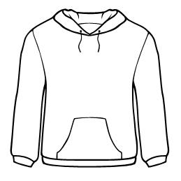 259x259 Sweatshirt Design Template