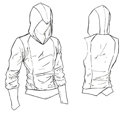 500x448 Assassin's Creed Hoodie Sewing Pattern Sewing
