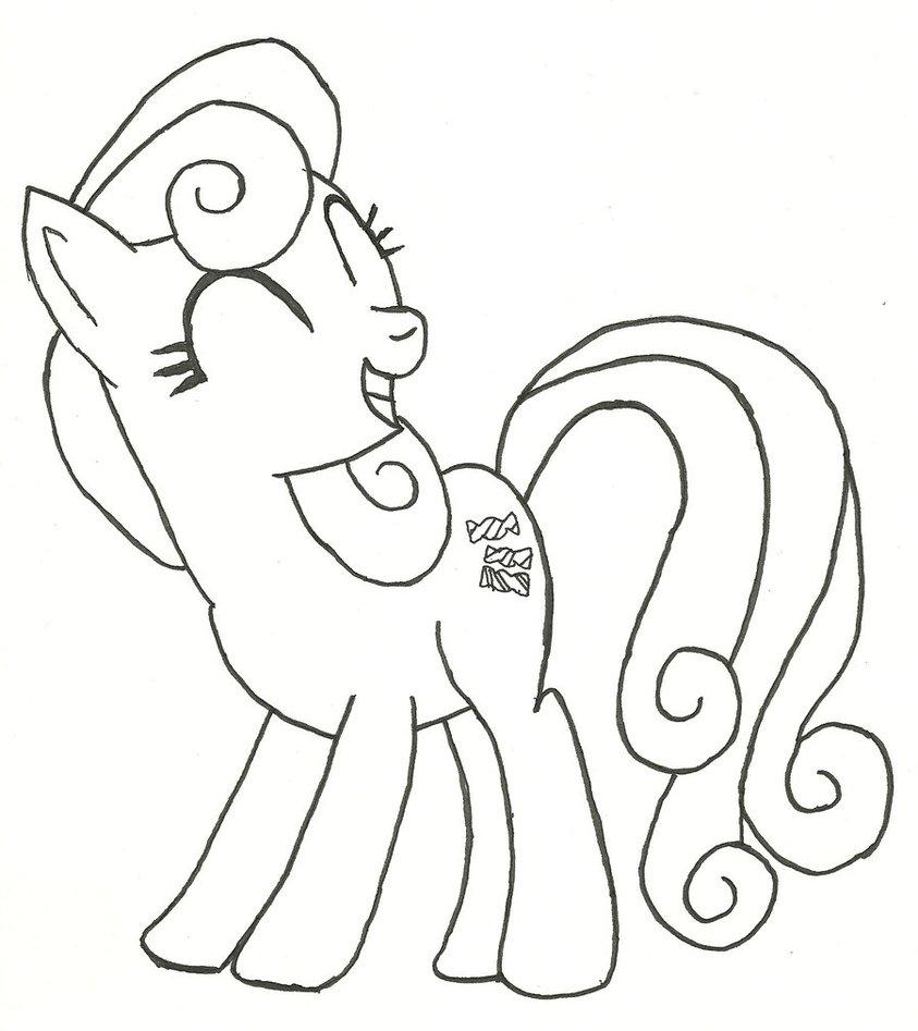 843x947 Bon Bon, Hoof Drawn By Ratchet Wrench