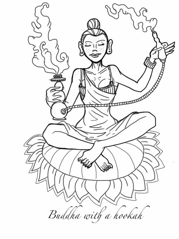 600x800 Jerad Gribben Buddha Smoking A Hookah