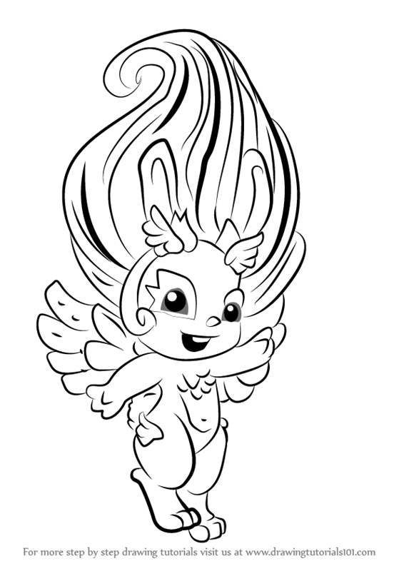 566x800 Learn How To Draw Angel Hop From The Zelfs (The Zelfs) Step By