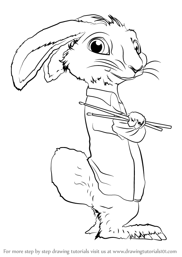 598x844 Learn How To Draw Eb From Hop (Hop) Step By Step Drawing Tutorials