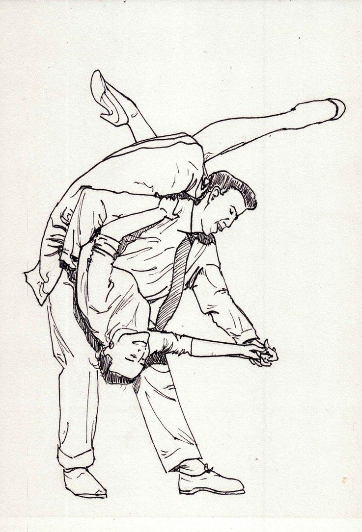 737x1085 Lindy Hop Sketch By Shootingstaar