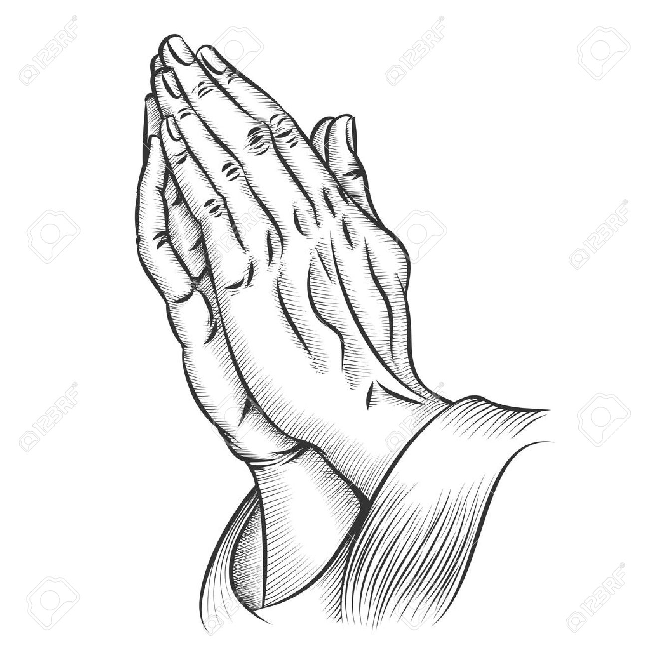 1300x1300 Praying Hands. Religion And Holy Catholic Or Christian