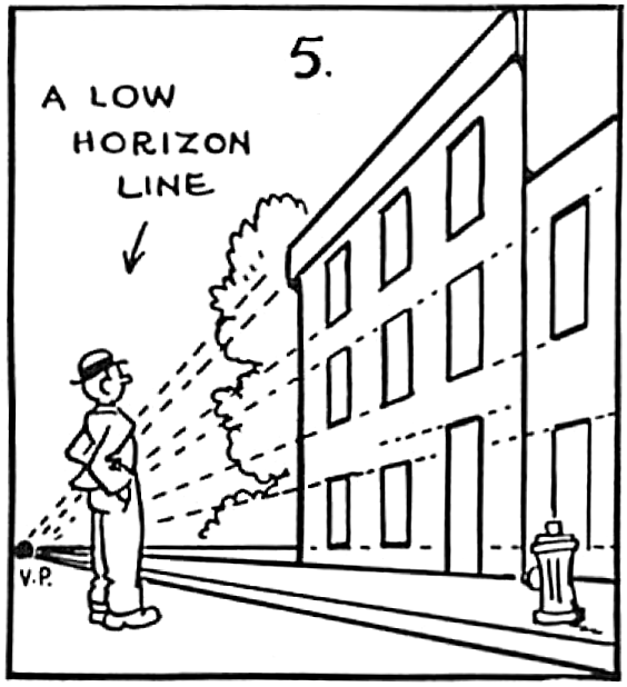 564x618 Perspective Drawing In Cartooning Guide For Cartooners