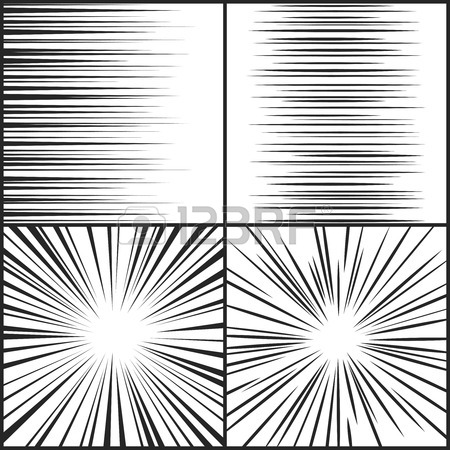 450x450 Horizontal And Radial Speed Lines Graphic Manga Comic Drawing