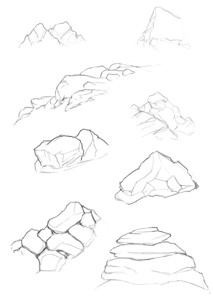 707x1000 How To Draw A Horizontal Mountain Range Mountain Range