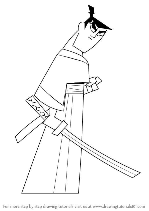 598x844 Learn How To Draw Samurai Jack (Samurai Jack) Step By Step