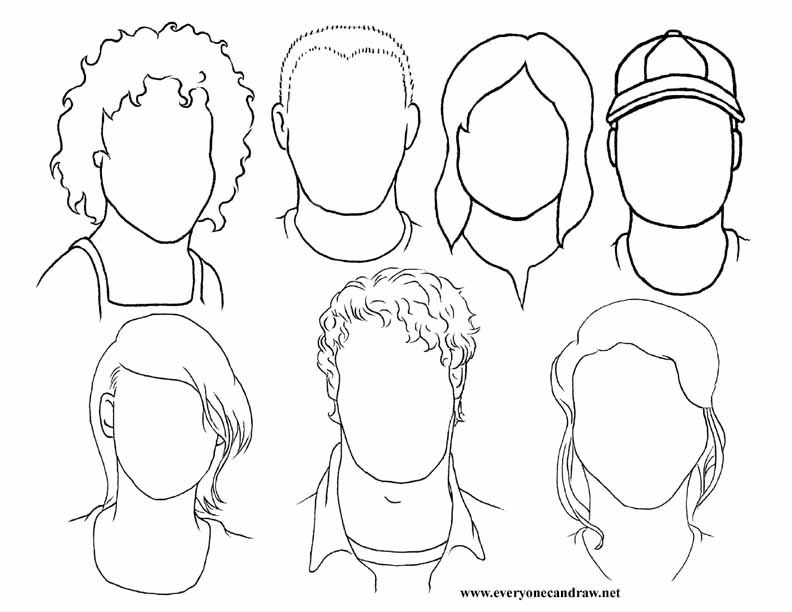 792x612 Portrait Practice For Guide Lines Of The Face. Have Students Draw