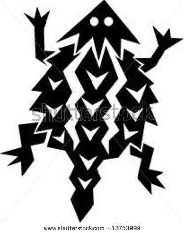 372x470 Horned Lizard Tattoo Native American Horned Toad Stock Vector