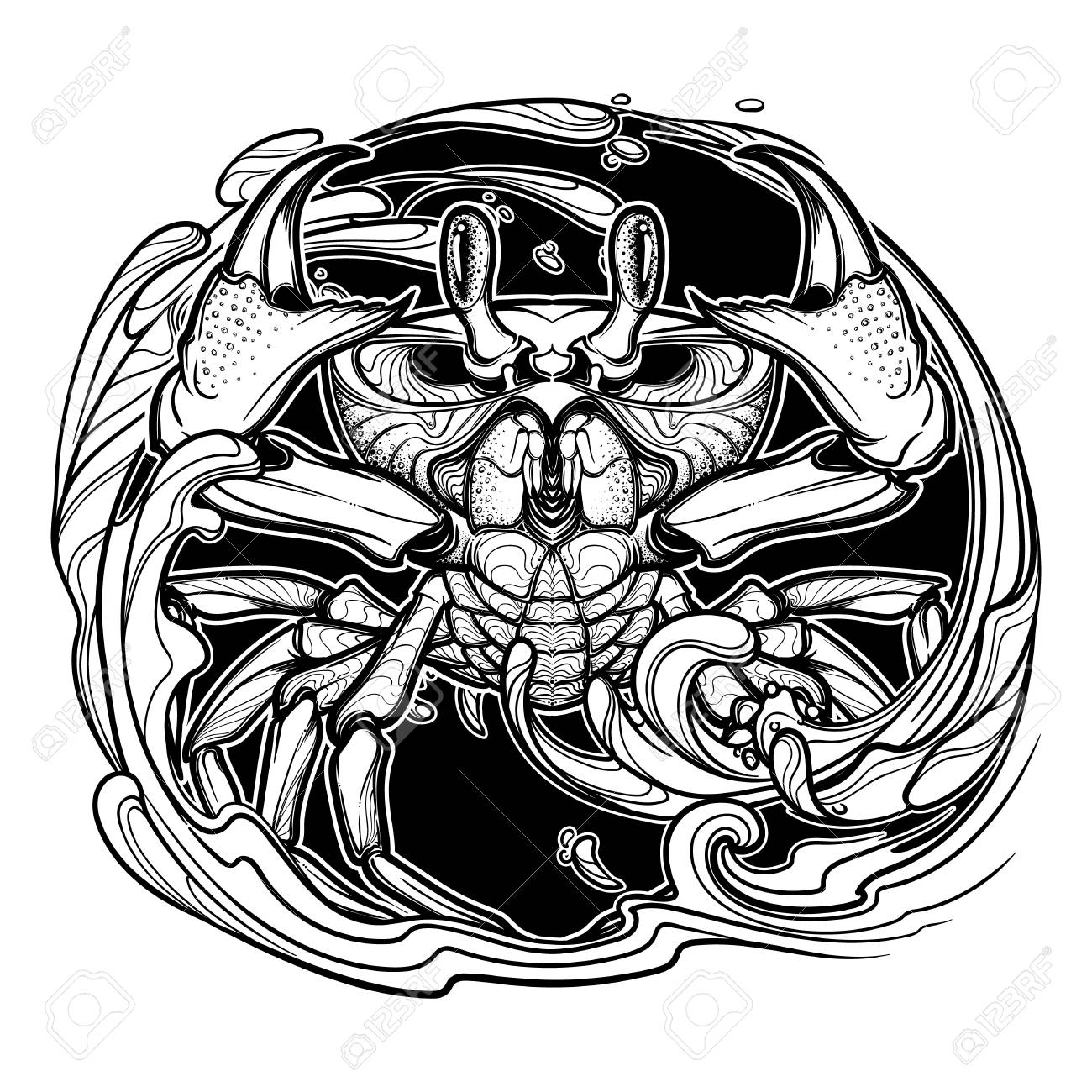 1300x1300 Alchemy Element Of Water. Zodiac Sign