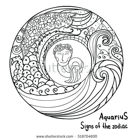 450x470 Astrology Coloring Pages 19 Plus Astrological Signs Coloring Pages