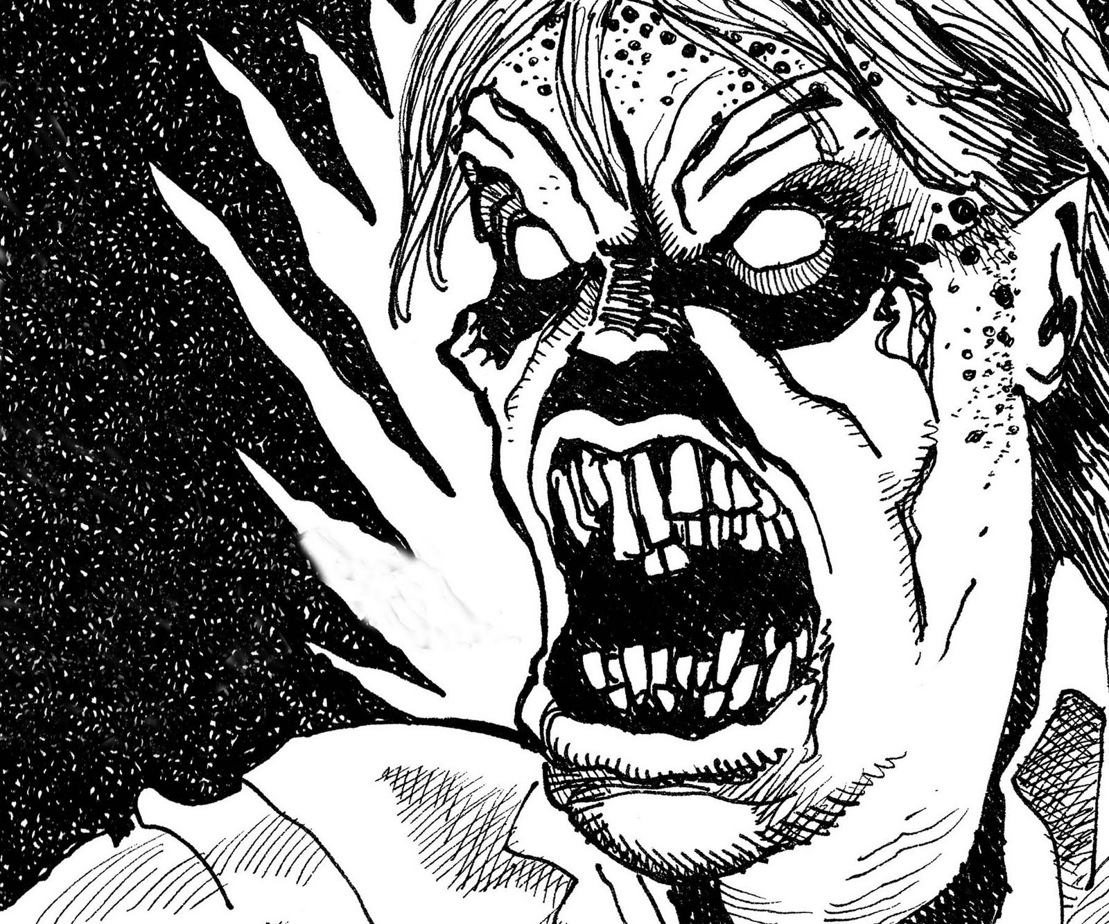 Line Drawing Monster : Horror drawing at getdrawings free for personal use