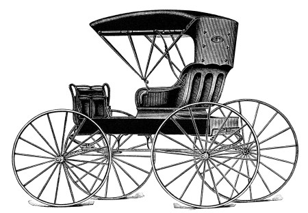 450x312 Vintage Horse Buggy Clip Art, Black And White Clipart, Antique