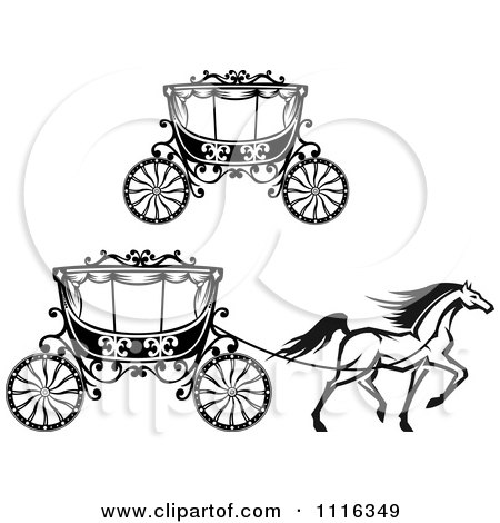 450x470 Clipart Black And White Prancing Horse And Romantic Wedding