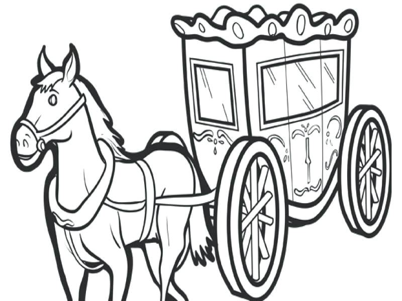 800x600 Horse And Carriage Coloring Pages Book