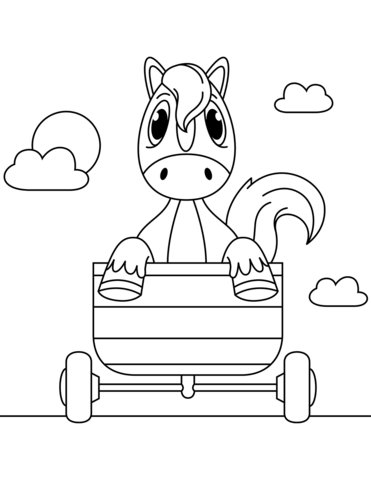 371x480 Horse In A Carriage Coloring Page Free Printable Coloring Pages