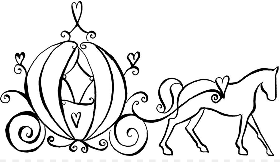 900x520 Cinderella Fairy Godmother Coloring Book Carriage Horse