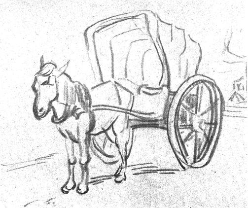 Horse And Carriage Drawing At Getdrawings Com