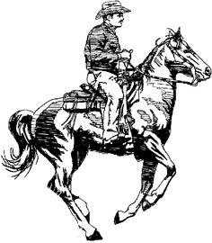 236x270 Cowboy On Horse Clipart