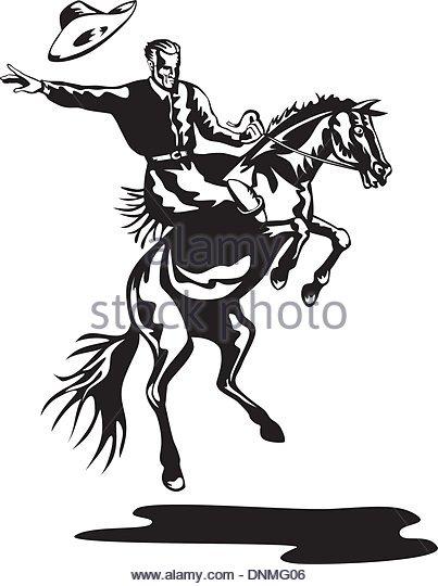 403x540 Cowboy Riding Horse Stock Vector Images
