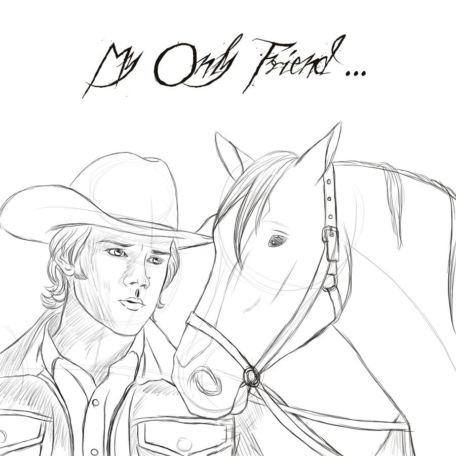 900x900 Cowboy Sam N His Horse Sketch By Sassylilpanda