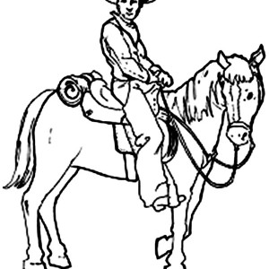 horse and cowboy drawing at getdrawingscom free for