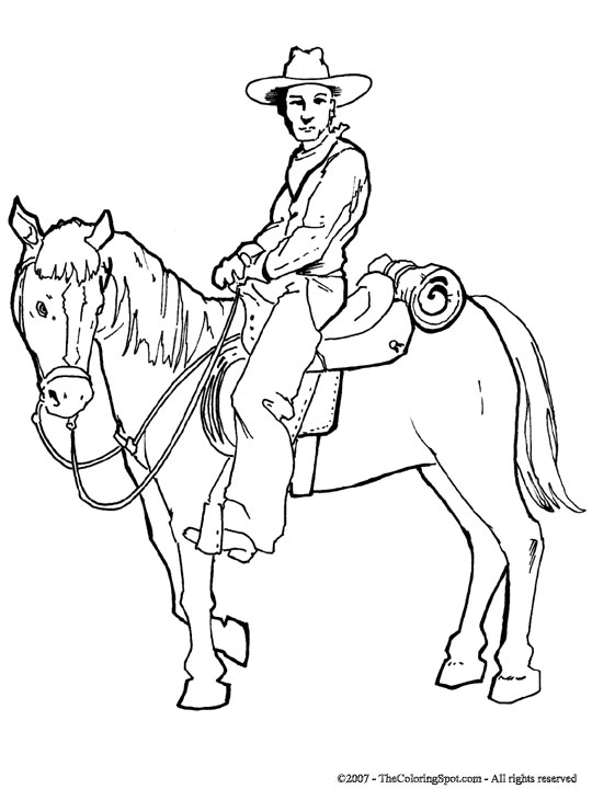 540x720 Cowboy Amp Horse 3 Audio Stories For Kids Amp Free Coloring Pages