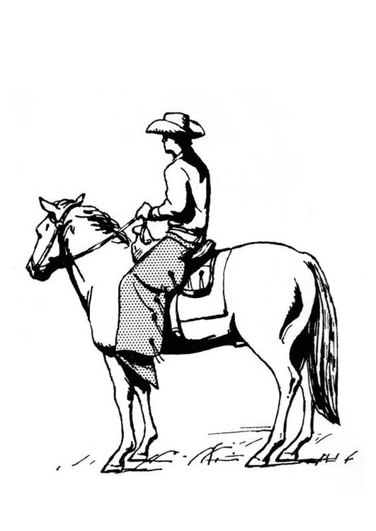 531x750 Coloring Page Cowboy On Horse