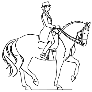 300x300 Horse And Rider Coloring Page
