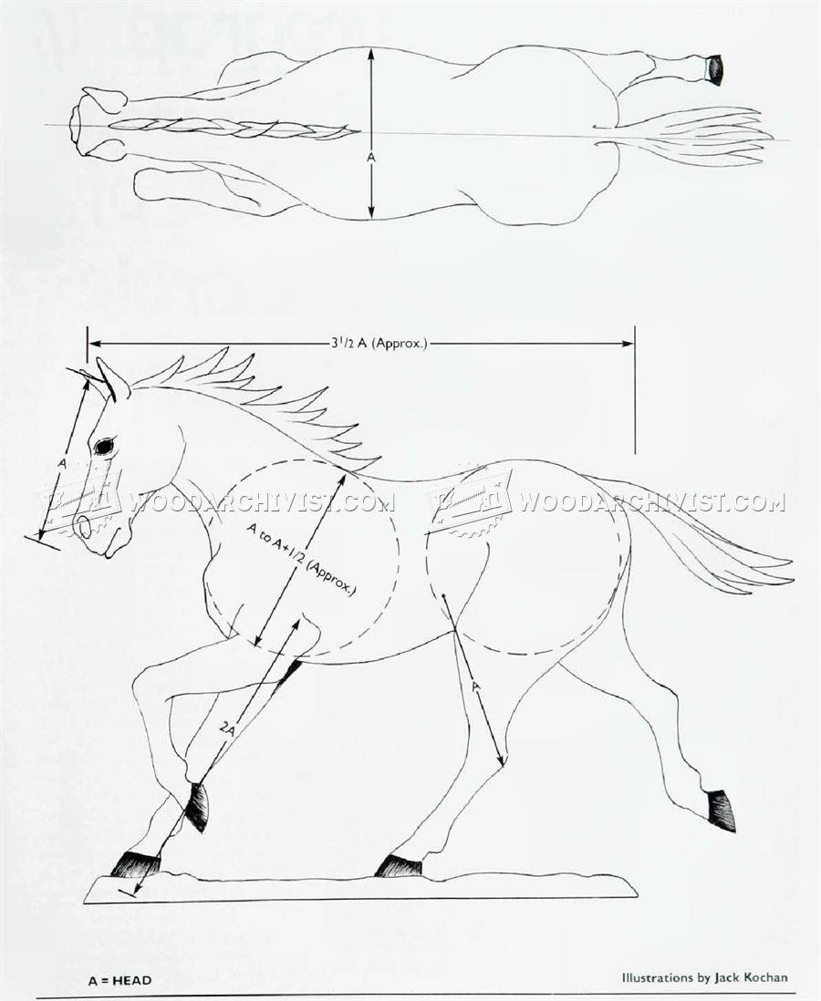 900x1098 Carving Horse Woodarchivist