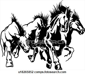 350x307 Horse Line Drawings Clip Art Illustration, Lineart, Horse