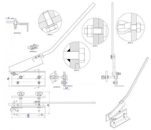 480x415 Sheet Metal Bench Shear Plan