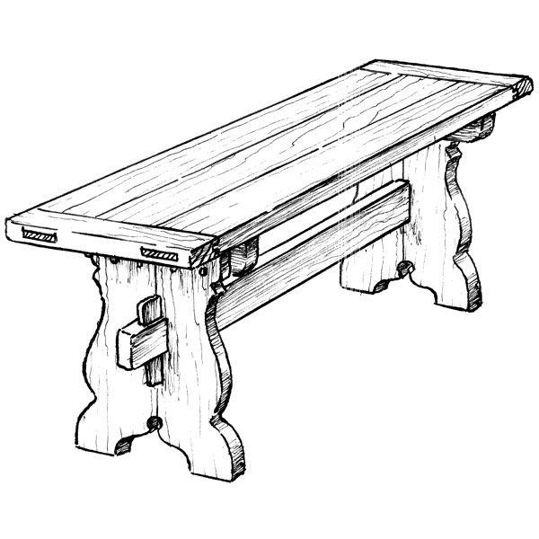 600x600 Trestle Bench Plans Plans Furniture Plans Seating Plans