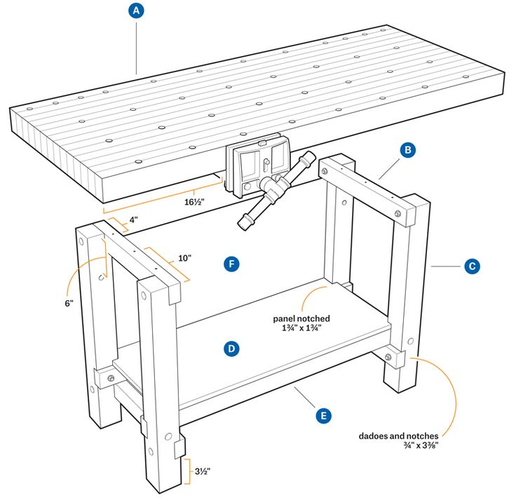 736x713 281 Best Workbenches Images On Woodworking, Work