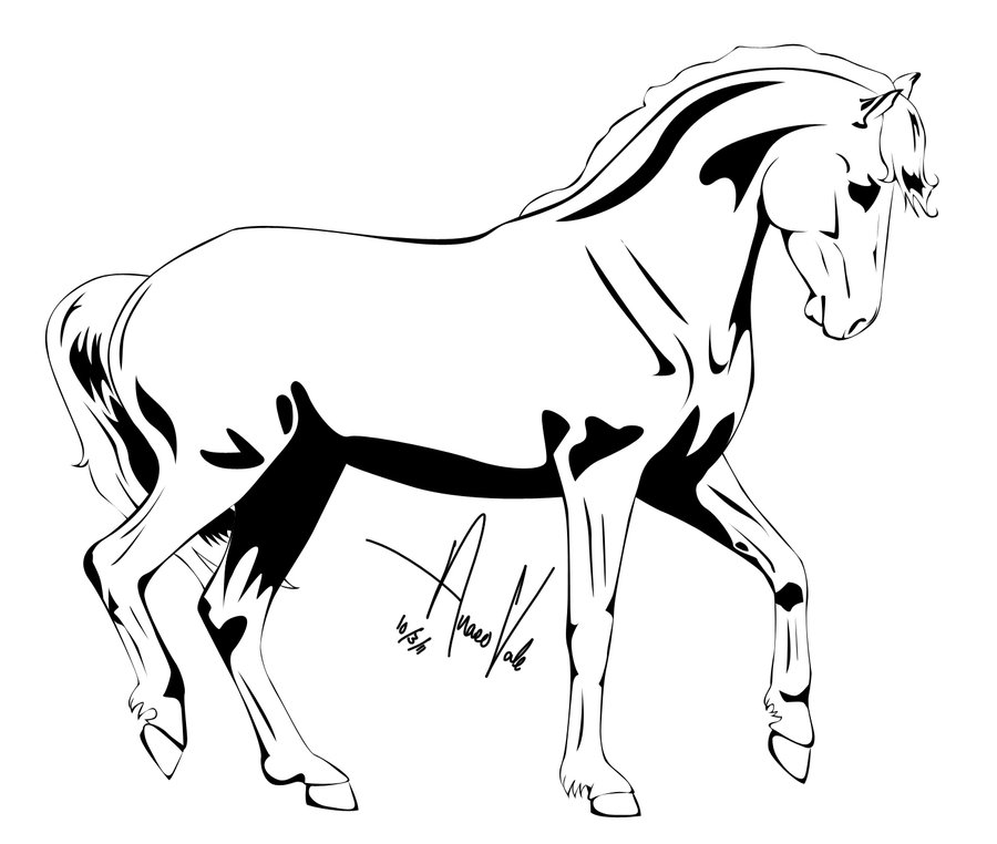 900x762 Horse Clipart Outline Drawing