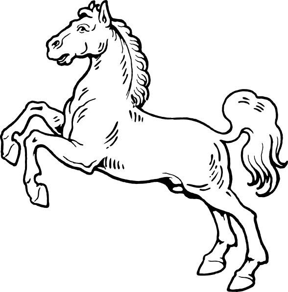 588x597 White Horse Clip Art