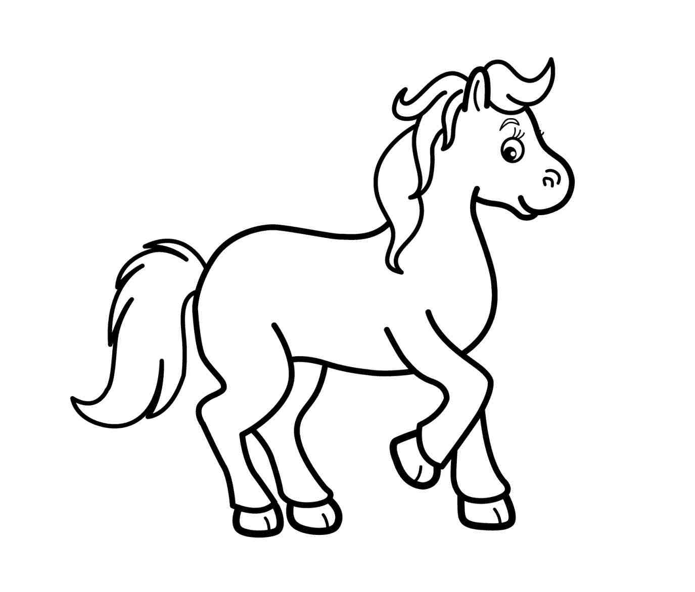 1375x1172 Black And White Horse Drawings
