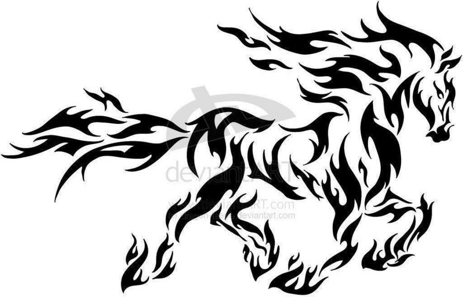 1536x986 Collection Of Horse Tattoo Sketch