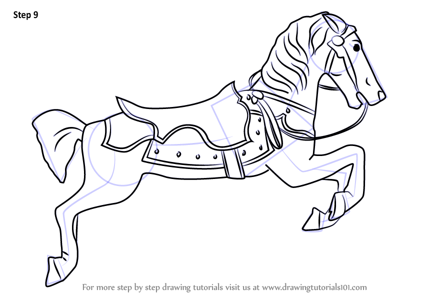 846x600 Learn How To Draw Carousel Horse (Everyday Objects) Step By Step
